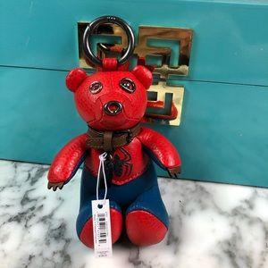 NWT Coach Spider-Man Leather Bear Bag Charm